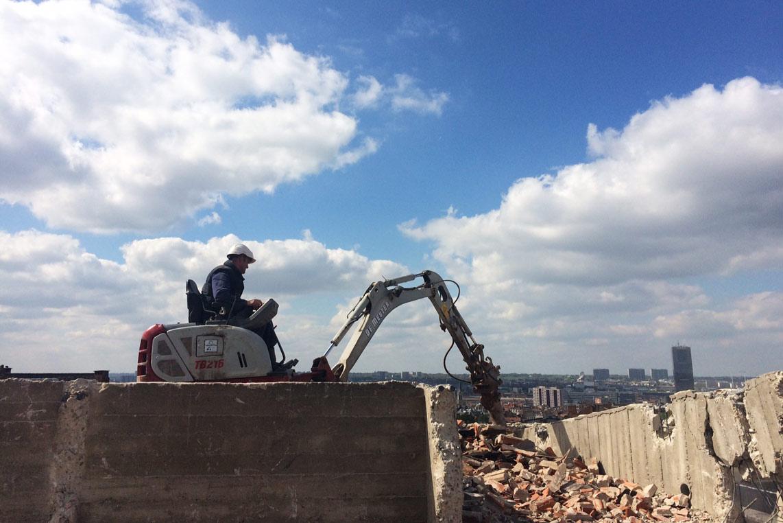 42 appartements, les démolitions s'achèvent.
