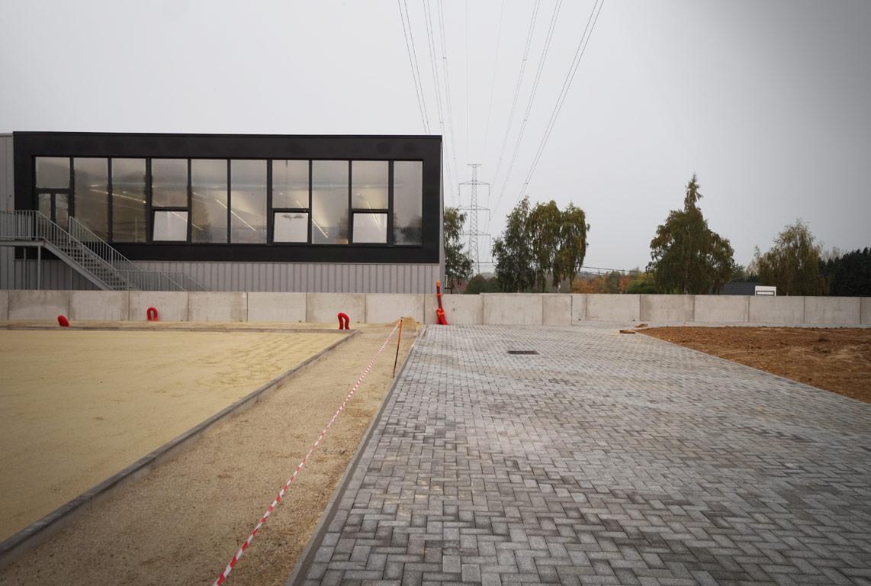 Infrastructure sportive de Virginal - Le chantier touche à sa fin
