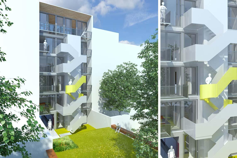 Immeuble de Logements Rue Crickx à Bruxelles, bientôt en chantier !